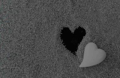 open spot where heart is missing